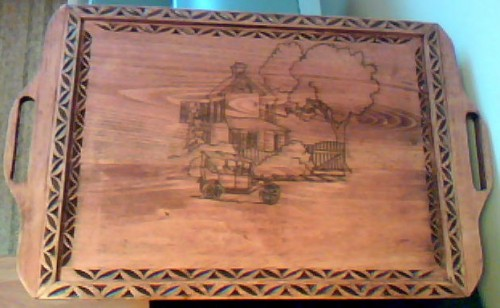 chipcarved serving tray